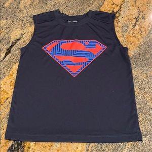 SUPERMAN BOYS MUSCLE SHIRT size xs(4/5